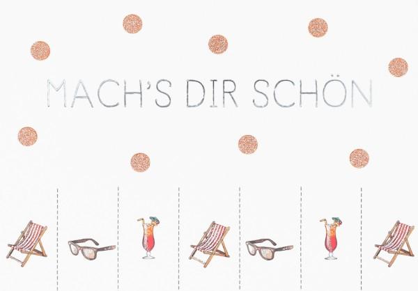 Postkarte: Mach's Dir schön