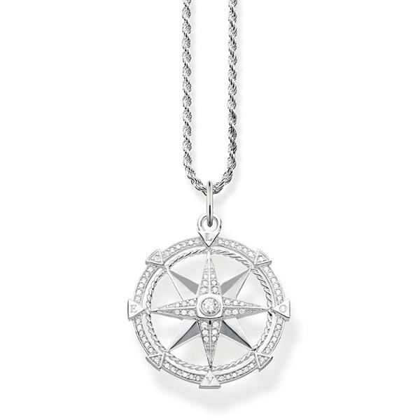 Halskette Kompass silber