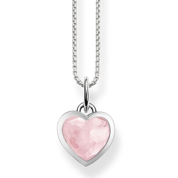 Halskette Herz rosa