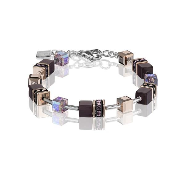 Armband GeoCUBE® violett-braun