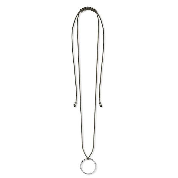 Charm-Halskette Kreis grau