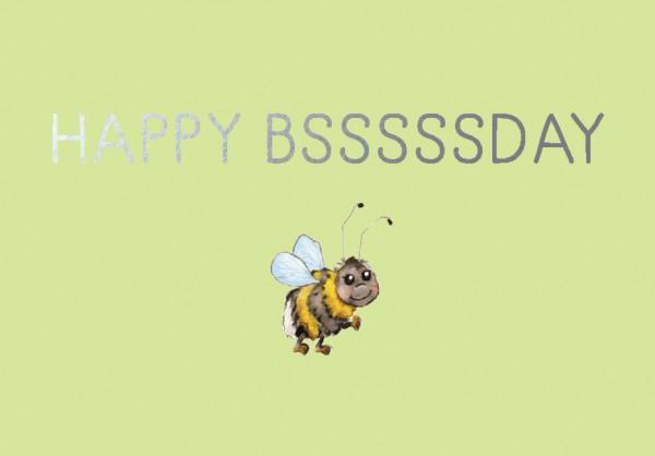 Mini-Doppelkarte: Happy Bsssssday