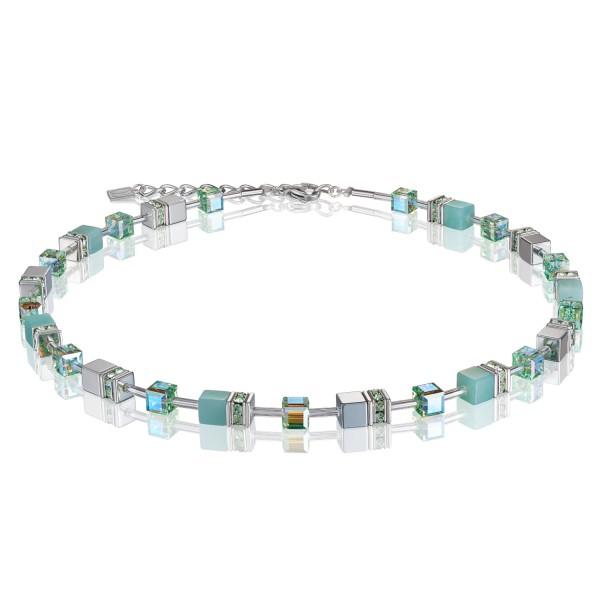 Halskette GeoCUBE® Amazonit & Hämatit hellgrün
