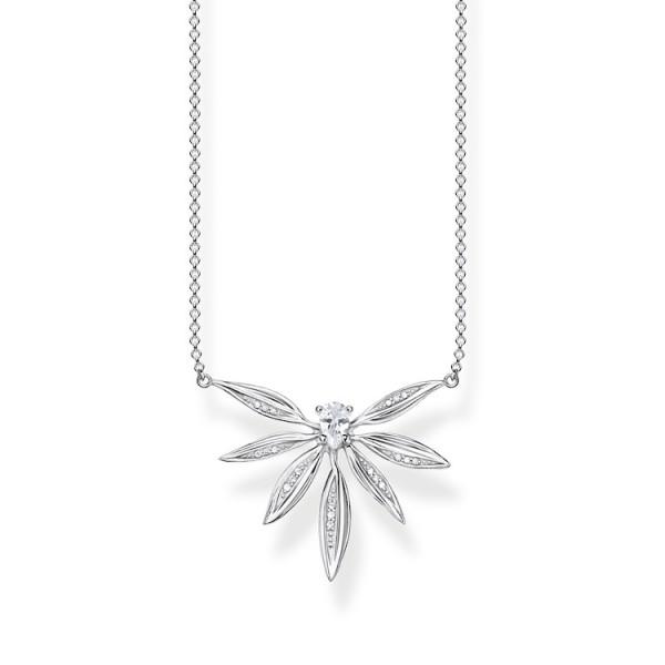 Halskette Blätter silber