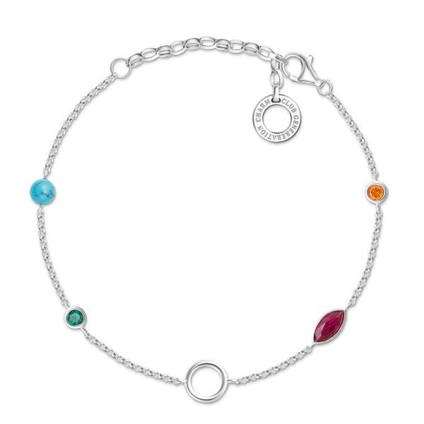 Charm-Armband farbige Steine