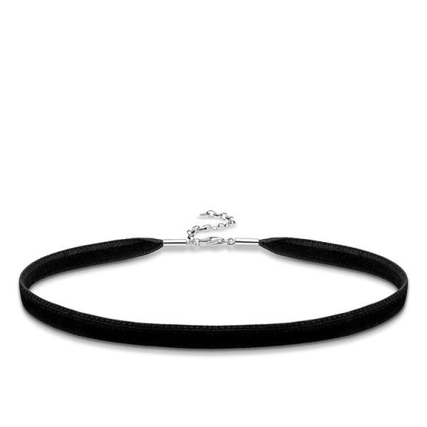 Charm-Halskette Choker schwarz