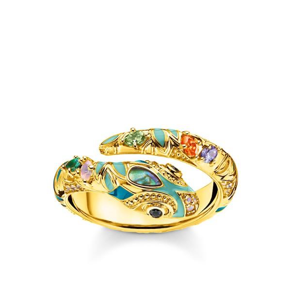 Ring Schlange gold