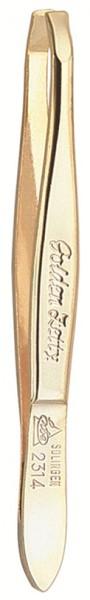 Pinzette 92314 gebogen 8 cm gold