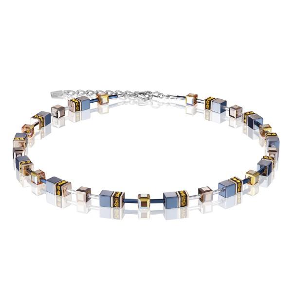 Halskette GeoCUBE® topaz-gold