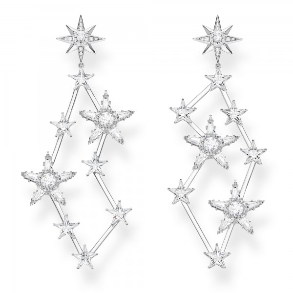 Ohrstecker Sterne silber