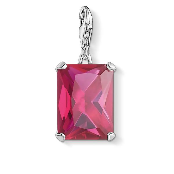 Charm-Anhänger grosser Stein pink
