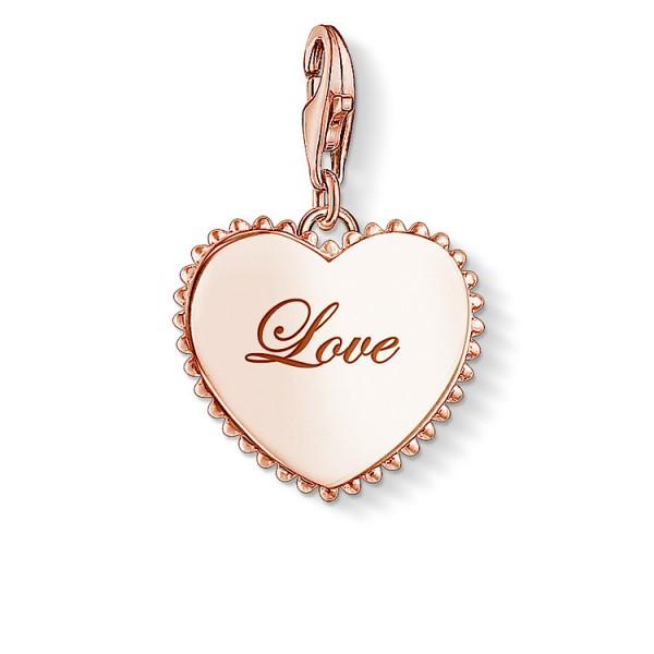 Charm-Anhänger Herz Liebesbeweis