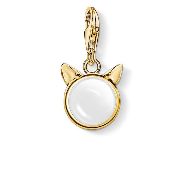 Charm-Anhänger Katzenohren gold