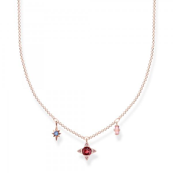 Halskette Glückssymbole rosé