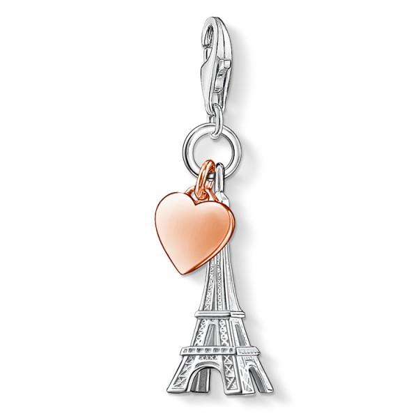 Charm-Anhänger Eiffelturm mit Herz