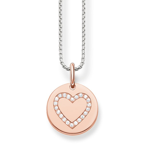 Halskette Herz Rosé