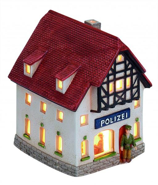Windlicht-Haus Polizei