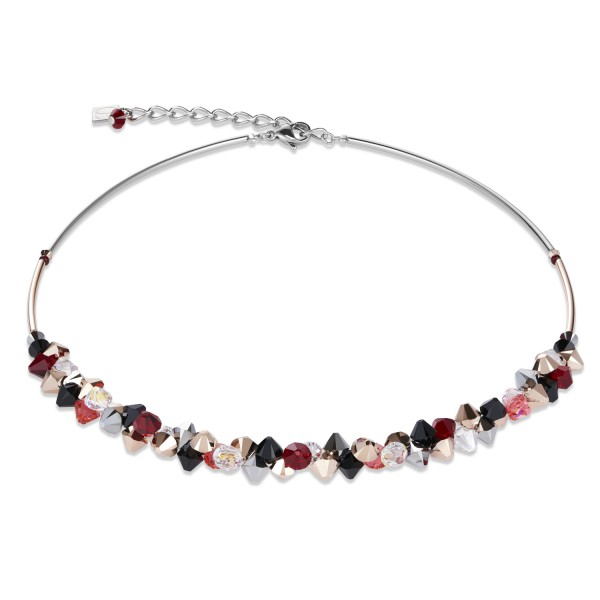Halskette Swarovski® Kristalle & Edelstahl rot