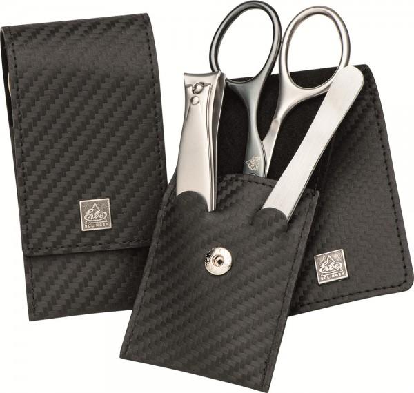 Manicure Etuis 9493 3-teilig carbon Man rostfrei