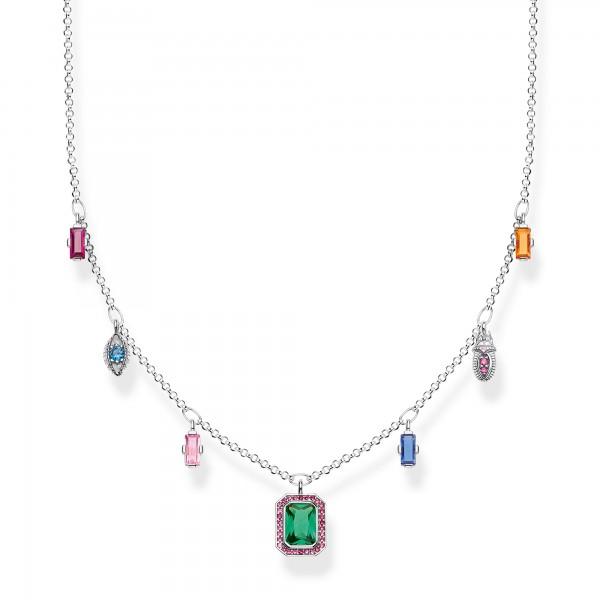 Halskette farbige Glückssymbole