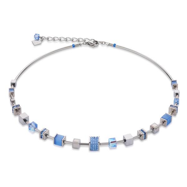 Halskette Swarovski® Kristalle & Kristalle Pavé hellblau