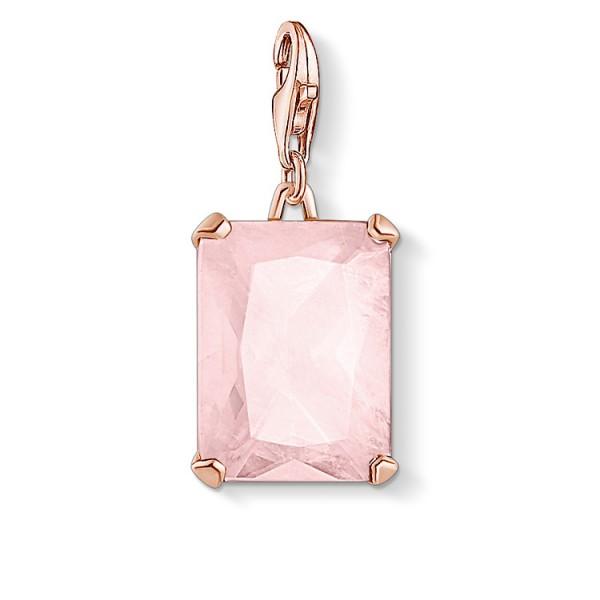 Charm-Anhänger grosser Stein rosa