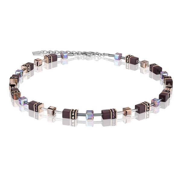 Halskette GeoCUBE® violett-braun