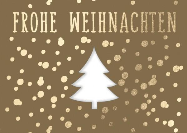 Mini-Doppelkarte: Frohe Weihnachten - Tannenbaum