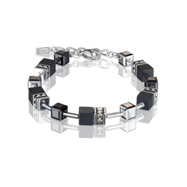 Armband GeoCUBE® Onyx schwarz-silber