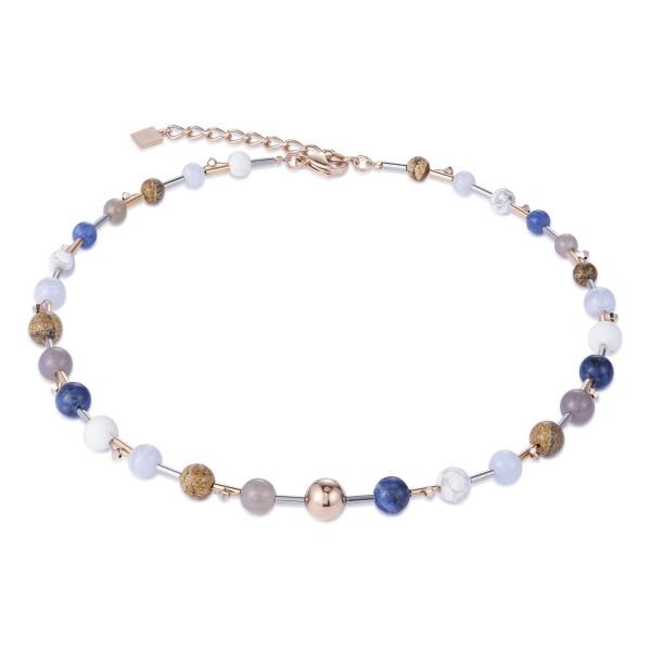 Halskette Swarovski® Kristalle & Edelstahl multicolor