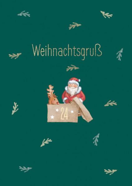 Doppelkarte: Weihnachtsgruß