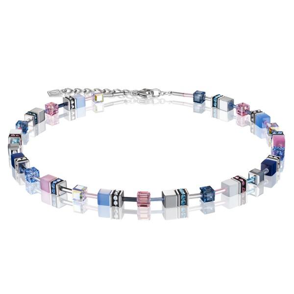 Halskette GeoCUBE® blau-rosa