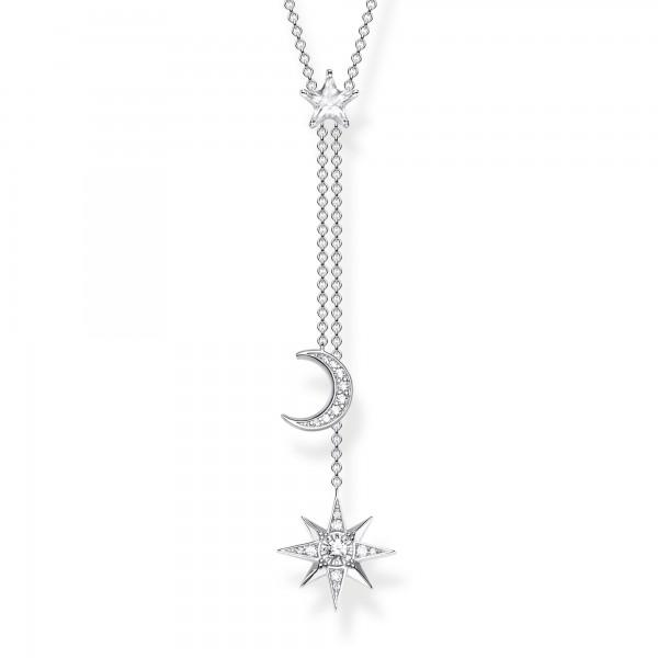 Halskette Sterne & Mond silber