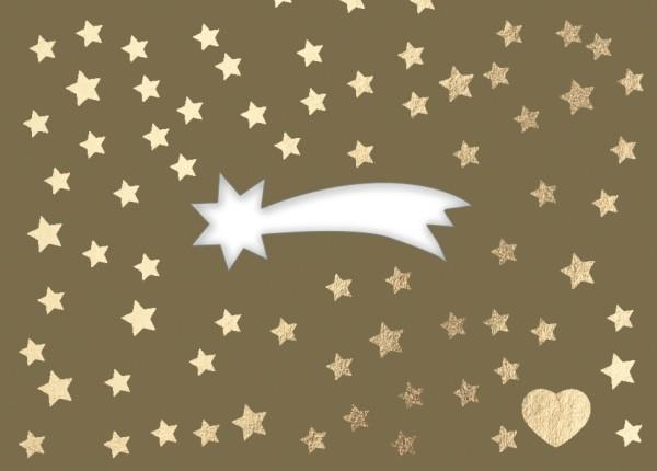Mini-Doppelkarte: Komet