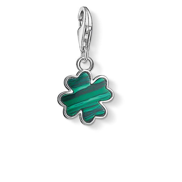 Charm-Anhänger Kleeblatt grün