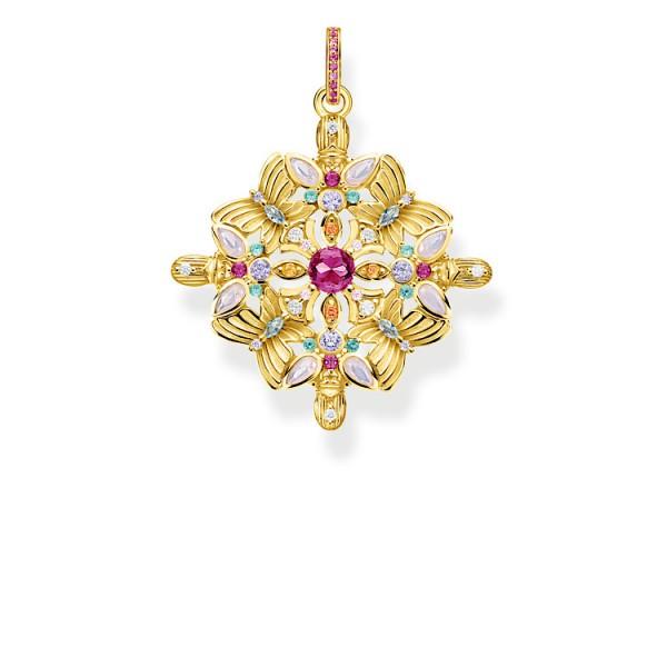 Anhänger Schmetterling Amulett Kaleidoskop gold