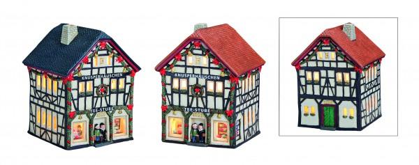 Windlicht-Haus Teestube Bonn mit Girlande