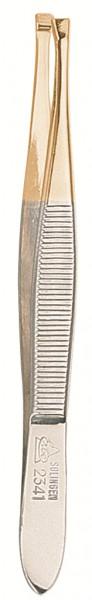 Pinzette 92341 gerade 9 cm gold
