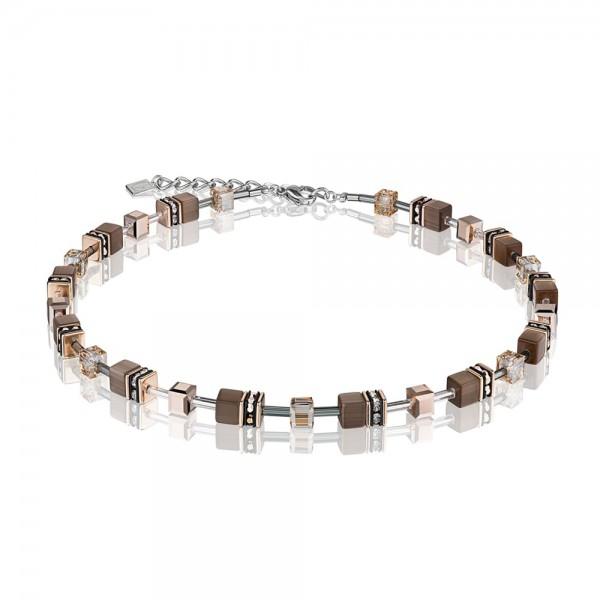 Halskette GeoCUBE® braun