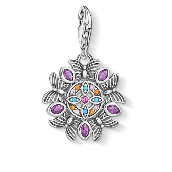 Charm-Anhänger Amulett Kaleidoskop silber