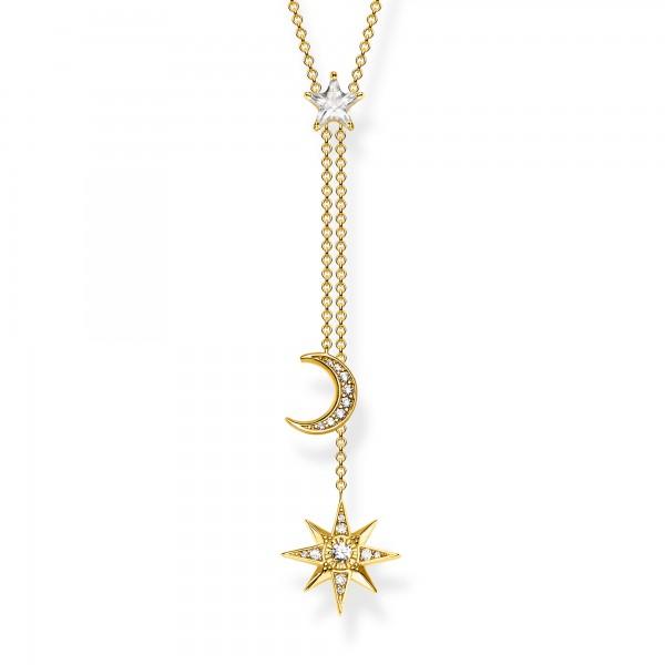 Halskette Sterne & Mond gold