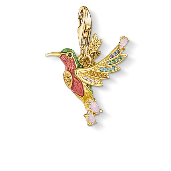 Charm-Anhänger Kolibri gold
