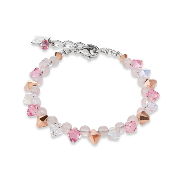Armband Swarovski® Kristalle & Rosenquarz hellrosa
