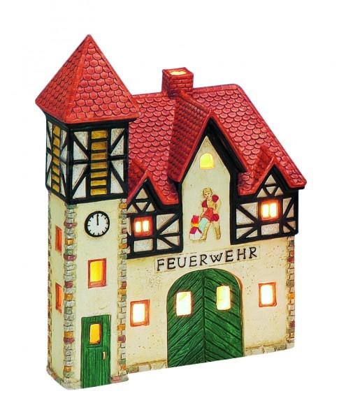 Windlicht-Haus Feuerwehr