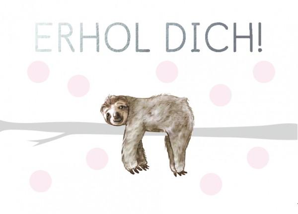 Mini-Doppelkarte: Erhol Dich!