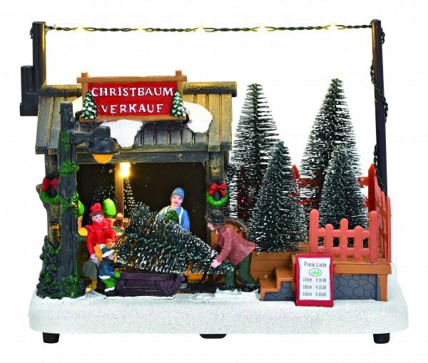 Weihnachtsmarkt-Stand Christbaumverkauf