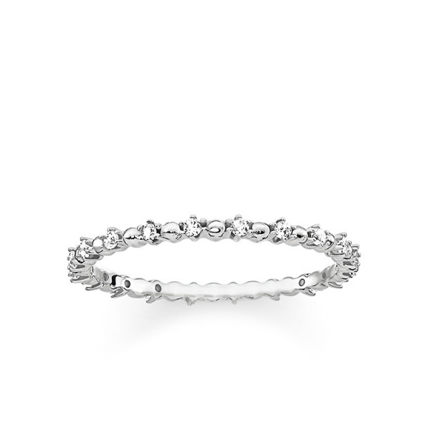 Ring Dots mit weißen Steinen