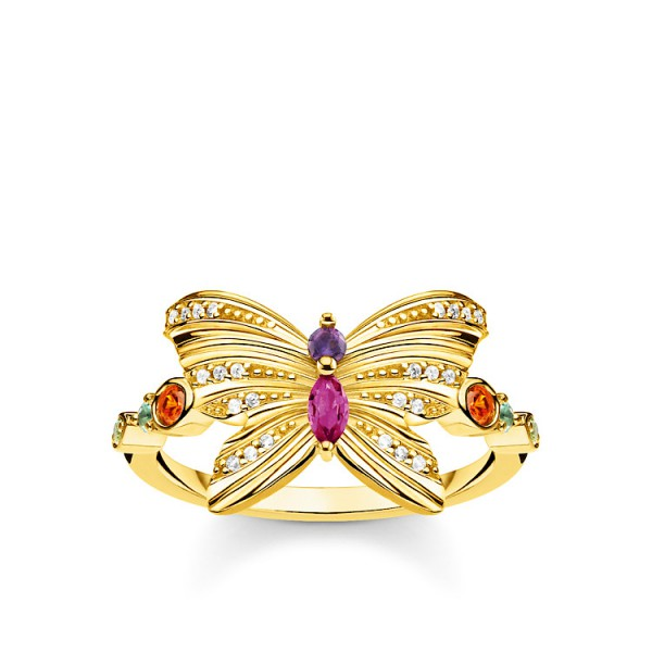 Ring Schmetterling gold