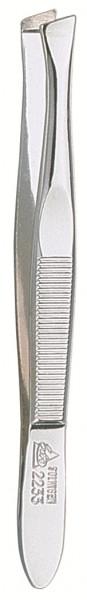 Pinzette 92233 schräg 9 cm verchromt