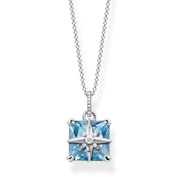 Halskette blauer Stein mit Stern